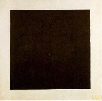 Fine art - Black Square, oil on canvas, Kazimir Malevich, 1923–29