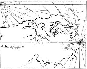 Stanley Harbour - Early mapping of Stanley Harbour (Dom Pernety, 1769)