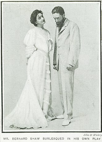 Man and Superman - Harley Granville Barker as John Tanner and Lillah McCarthy as Anne Whitefield in first production, Royal Court Theatre, London, 1905