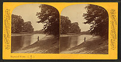 Man fishing on the Des Planes River, by P. B. Greene.jpg