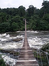 Mana suspension bridge over Mana river.JPG
