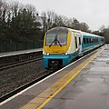 Manchester Piccadilly train arrives at Haverfordwest station (geograph 6065897).jpg