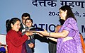 Maneka Sanjay Gandhi gave away the Aadhar Card to the children in Adoption home, at the inauguration of the National Meet on Adoption, organised by the Central Adoption Resource Authority (CARA), in New Delhi.jpg