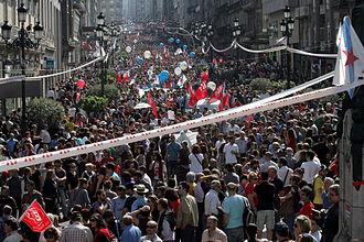 Confederación Intersindical Galega - Image: Mani vigo CIG