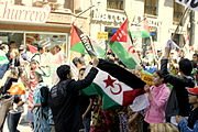 Manifestation in Madrid for the independence of the Western Sahara (3)