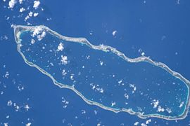 NASA picture of Manihi Atoll.