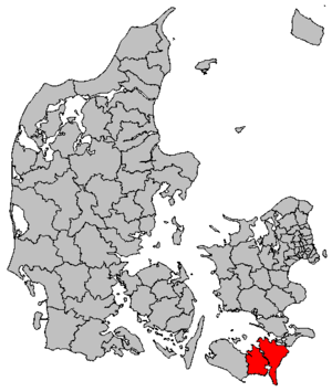 Guldborgsund Municipality - Image: Map DK Guldborgsund
