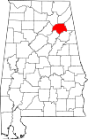 Map of Alabama highlighting Etowah County.svg