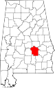 Map of Alabama highlighting Montgomery County.svg