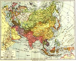 Map of Asia from 1932 Meyers Konversationslexikon.jpg
