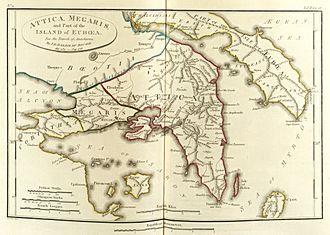Megaris - Map of ancient Megaris.
