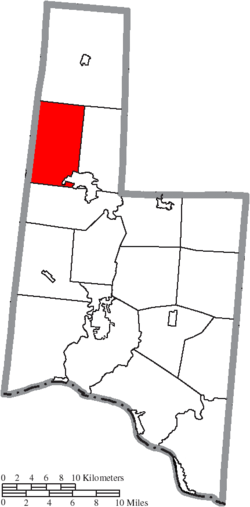 Location of Sterling Township in Brown County
