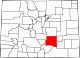 Map of Colorado highlighting Pueblo County.svg