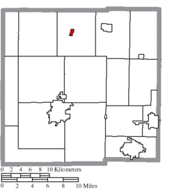 Location of Chatfield in Crawford County