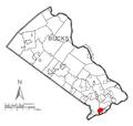 Map of Croydon, Bucks County, Pennsylvania Highlighted.png