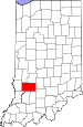 Map of Indiana highlighting Greene County.svg