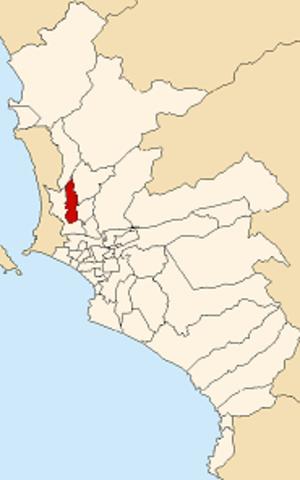 Los Olivos District - Image: Map of Lima highlighting Los Olivos