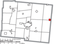 Map of Logan County Ohio Highlighting West Mansfield Village.png