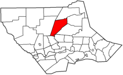 Map of Lycoming County Pennsylvania Highlighting Lewis Township.png