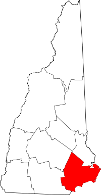 Locatie van Rockingham County in New Hampshire