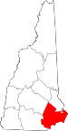Map of New Hampshire highlighting Rockingham County.svg