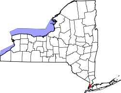 Map of New York highlighting Bronx County.svg