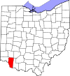 State map highlighting Clermont County