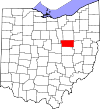 State map highlighting Holmes County