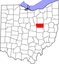 Map of Ohio highlighting Holmes County.svg
