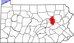 Map of Pennsylvania highlighting Columbia County.svg