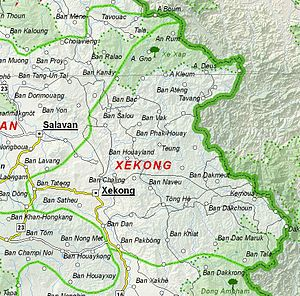 Sekong Province - Image: Map of Sekong Province, Laos