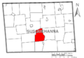 Map of Susquehanna County Pennsylvania highlighting Brooklyn Township.PNG