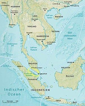 Malacca Strait Bridge - The region around the Strait of Malacca