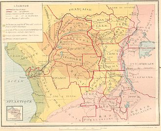 Provinces of the Democratic Republic of the Congo - Image: Mapcongo 1914