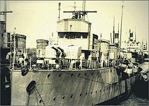 Raid on Constanța - Romanian flotilla leader (cruiser) Mărăști