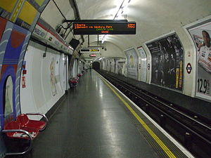 Marble Arch tube station - Image: Marble Arch stn eastbound look west