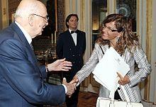 Emma Marcegaglia ricevuta al Quirinale da Giorgio Napolitano, 29 luglio 2009