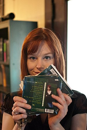 Marian Call - Marian Call displaying her CDs in 2010.