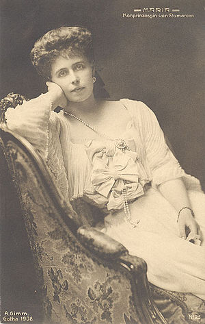 Marie of Romania - Portrait of Marie by Henry Walter Barnett, about 1902