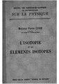 Marie Curie - L'isotopie et les éléments isotopes, 1924.pdf