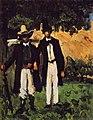 Marion et Valabrègue partant pour le motif, par Paul Cézanne.jpg