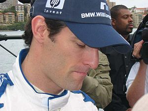 Mark Webber signing autographs after his demon...