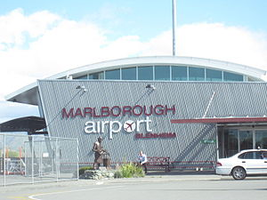 Woodbourne Airport - Marlborough Airport terminal building in 2012