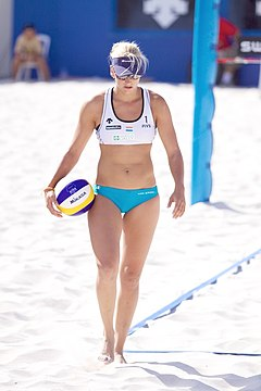 Marleen van Iersel by de FIVB World Tour yn 2010