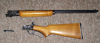 Marlin Model Golden 39A - The same 39A taken down for cleaning.