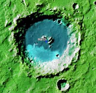 Marth (Martian crater) crater on Mars