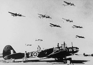 Martin Maryland - Martin Maryland bombers fly past in formation, North Africa 1941