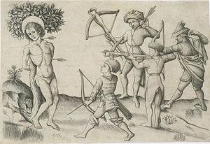 Master of the Playing Cards - Martyrdom of Saint Sebastian (circa 1440)