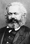 A photograph of Karl Marx
