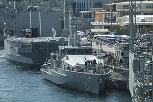 HMAS Maryborough alongside at Fleet Base East for the September 2008 Navy Open Day